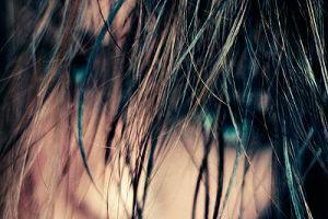 Los cabellos largos caen muy fuerte